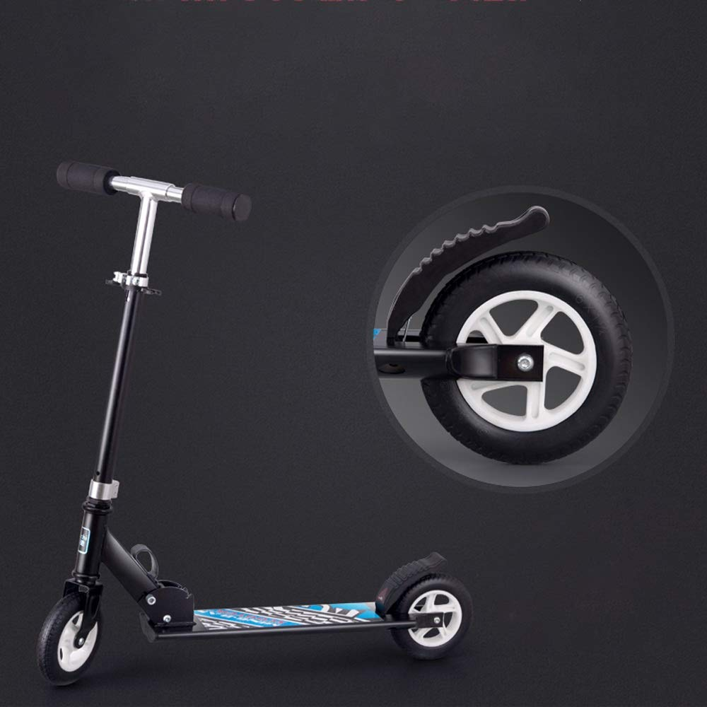 FDSjd Scooter King Scooter Folding Two Wheels Three Wheels Yo-Yo Beginner Big Boy Scooter (Color : White, Edition : Two Rounds) by FDSjd (Image #2)