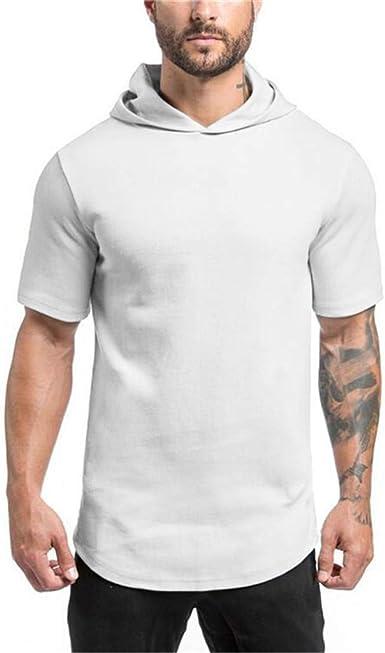Fannyfuny camiseta Hombre Verano Modelo Caballero Casuales Camisetas de Manga Corta Tank Top Original Camisa Blusas Suave Básica Slim Fit Chándal T-Shirt: Amazon.es: Ropa y accesorios