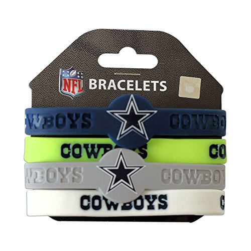 aminco NFL Dallas Cowboys Silicone Bracelets, 4-Pack - Nfl Dallas Cowboys Fan
