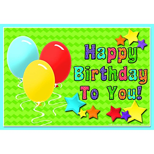 Top Notch Teacher Products TOP5123 Happy Birthday to You Postcards, 4.1
