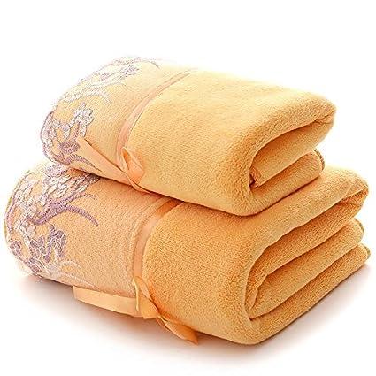 ZHFC Matrimonio toalla toalla regalo puro algodón suave de la boda suministros 32 traje par 140x70cm