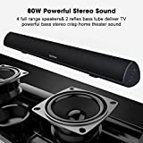 Sound Bar, Bestisan 80W Home Theater Soundbar