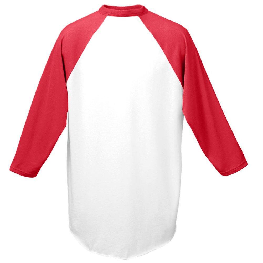 Augusta Red Adult Large 3//4 Raglan Sleeves