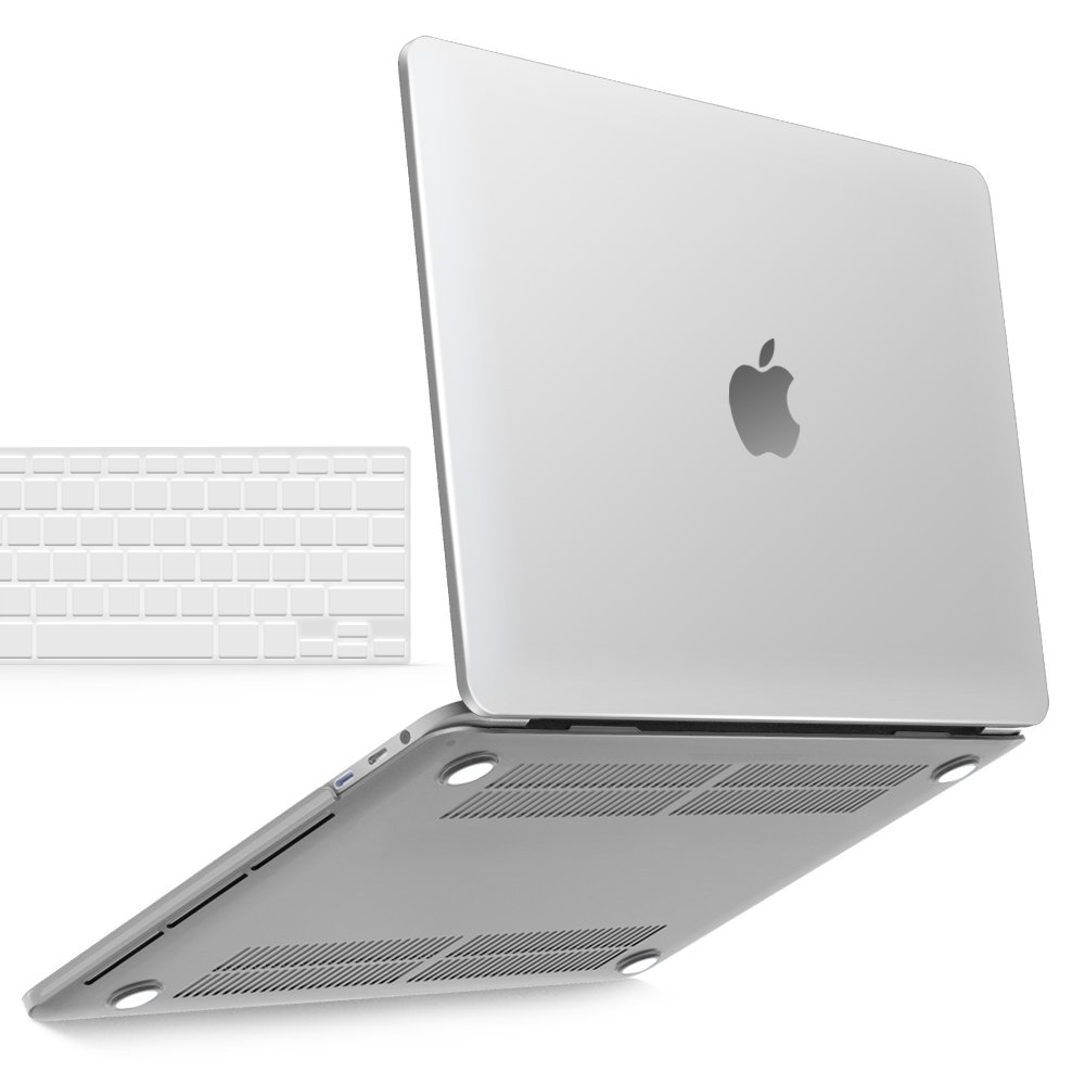 iBenzer Basic Soft-Touch Series Plastic Hard Case, TPU Keyboard Cover for A1706/A1708d MacBook Pro 13-inch 13'' with/without Touch Bar & Touch ID (Clear)