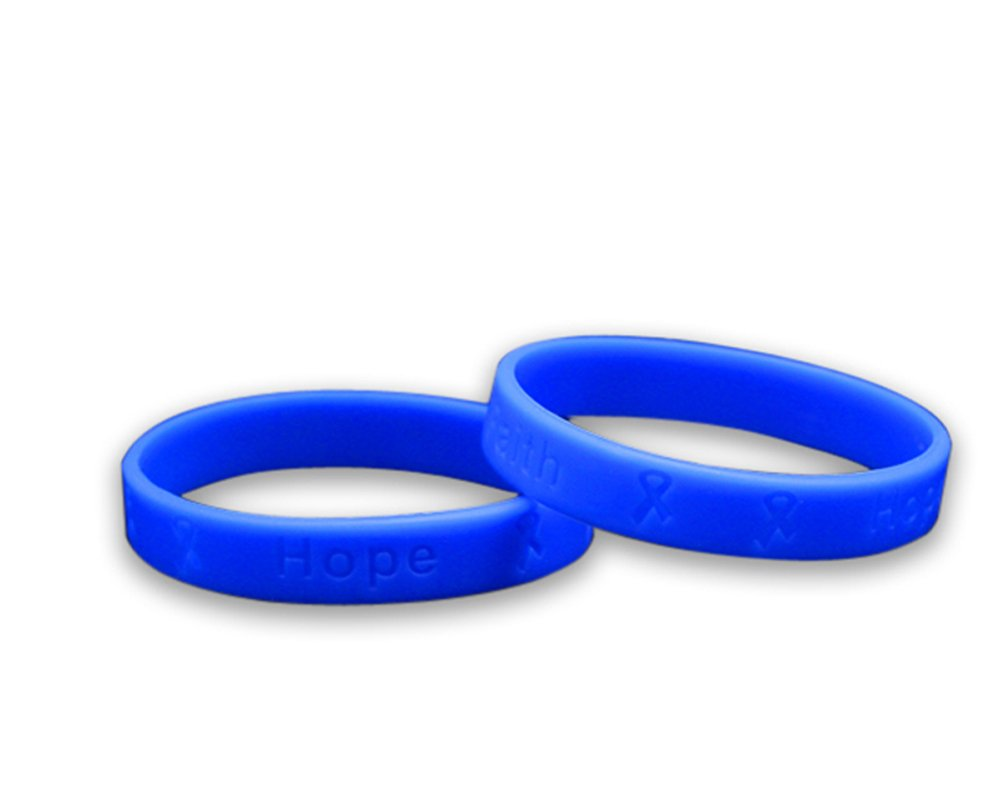 Fundraising For A Cause 25 Pack Child Periwinkle Silicone Bracelets - Child Size (Wholesale Pack - 25 Bracelets)
