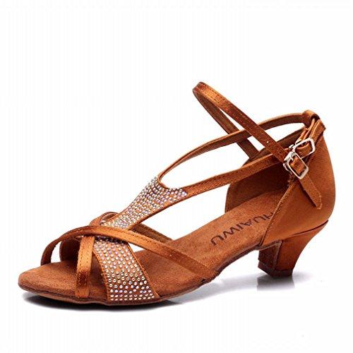 Cuero de BYLE 38 Sandalias Zapatos Zapatos Zapatos de Jazz Mujer de de Tobillo Baile Latino Baile Baile Samba Modern de rETqE