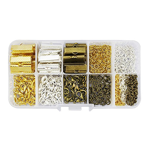 """LolliBeads (TM) 20mm(3/4"""") Assorted Size Silver Gold Anti..."""