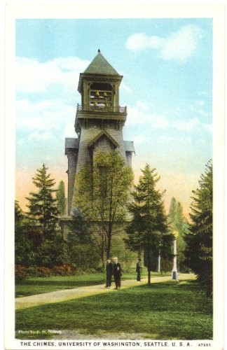 1930s Vintage Postcard The Chimes University of Washington Seattle Washington