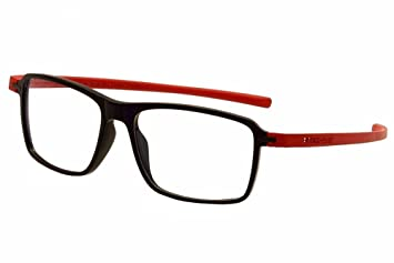fb6f99d926f Tag Heuer Eyeglasses Reflex 3 TH3952 TH 3952 004 Black Red Optical Frame  58mm