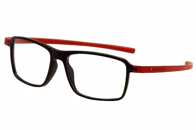e5f1a1bbede8 Tag Heuer Eyeglasses Reflex 3 TH3952 TH 3952 004 Black Red Optical Frame  58mm