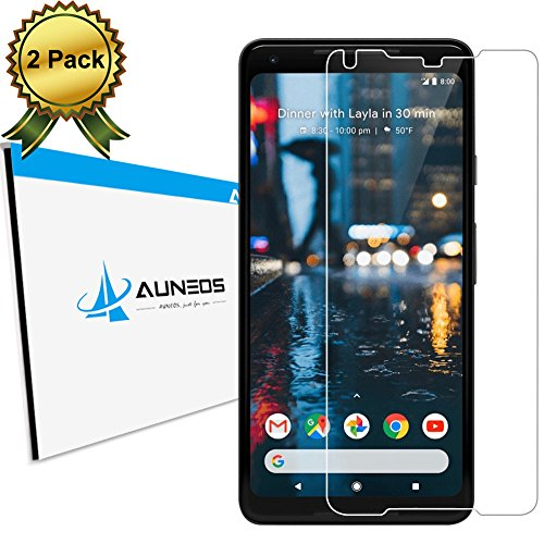 [2 Pack] Pixel 2 XL Screen Protector AUNEOS [HD Tempered Glass] Screen Protector for Google Pixel 2 XL [Case Friendly] HD Clear Anti-Scratch Compatible with Google Pixel 2XL (2Pack) (Best Google Pixel 2 Screen Protector)