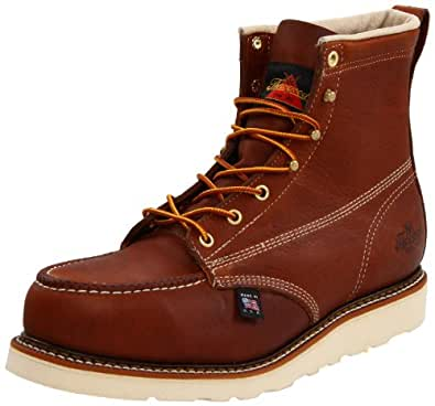 "Thorogood 804-4200 Men's American Heritage 6"" Moc Toe, MAXwear Wedge Safety Boot, Tobacco Oil-Tanned - 8 D(M) US"