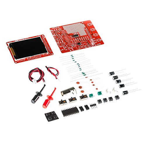 JYETech 'DSO 138 Mini' Oscilloscope DIY Kit w/Clip Probe by NooElec. Low Cost Portable Digital Storage Oscilloscope with 2.4