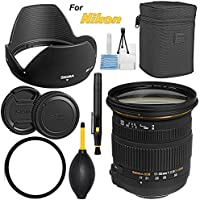 Sigma 17-50mm f/2.8 EX DC OS HSM Zoom Lens for Nikon DSLRs with APS-C Sensors - Bundle