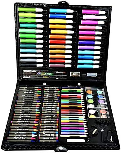 MELLRO Wasser Farbstift 150 Stücke Sortiert für Künstler-Maler-Aquarellfachleute und Anfänger-Kunst-Satz Geschenke für Kinder (Color : Black, Size : Free Size)