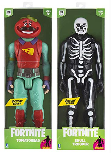 Level up with The Victory Series Fortnight Figures Pack: Victory Series Skull Trooper + Victory Series Tomatohead Big Figure 2 Pack ()
