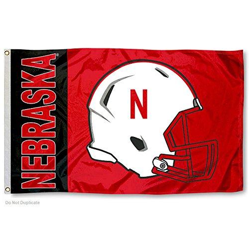 Nebraska Huskers Large Football Helmet 3x5 College Flag