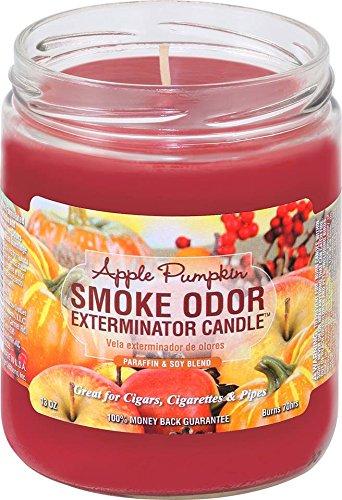 Smoke Odor Exterminator 13oz Jar Candle, Apple Pumpkin, 13 oz