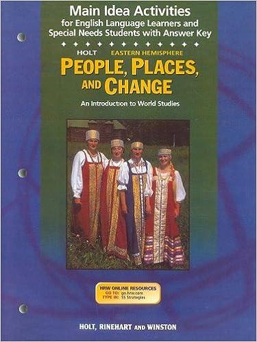 Holt Eastern Hemisphere People, Places, and Change Main Idea