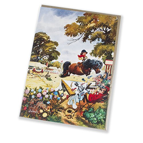 up-for-the-cup-horse-riding-and-pony-greeting-card-with-envelope-by-norman-thelwell-blank-on-the-ins