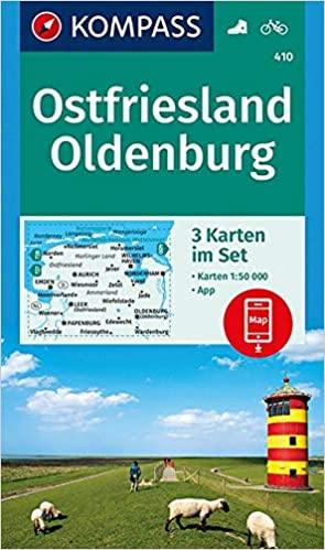 Ostfriesland Oldenburg 3 Set 3 Wanderkarten 1 50000 Im Set