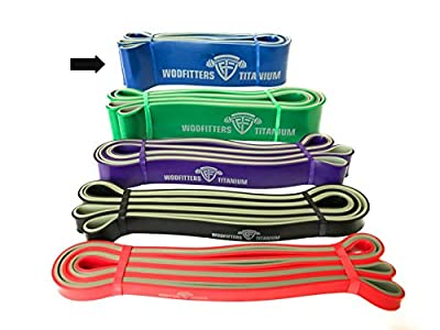 WODFitters Titanium Resistance Bands - Choose Single Band OR Set - Heavy Duty Powerbands for Pull Up Assistance, Mobility Exercises, Workout, Exercise and Cross Training