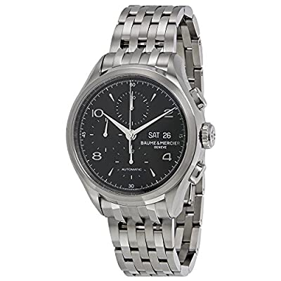 Baume et Mercier Clifton Chronograph Black Dial Stainless Steel Mens Watch MOA10212