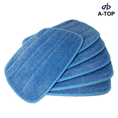 "[A-TOP] 9.4*13.4"" Microfiber Steam Mop Pads Euroflex Monster & Hann (Pack of 6)"