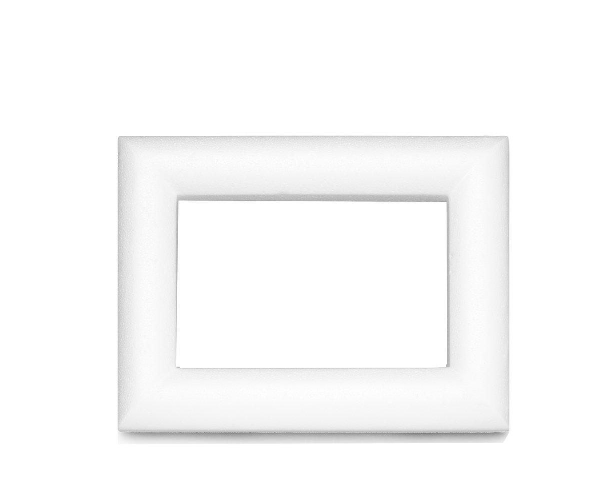 Glorex 3803865K 6Styrofoam Polystyrene Foam Frame White 23x 16x 2cm GLOREX GmbH 6 3803 865K
