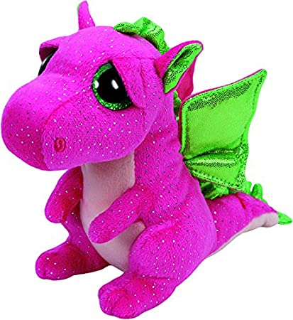 Ty Darla Dragon Plush, Pink, Medium