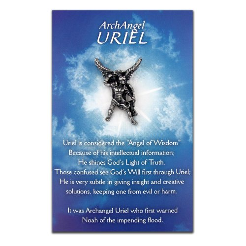 PinMart's Uriel The Archangel Angel of Wisdom Lapel Pin and Card
