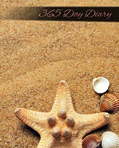 (365 Day Diary: Journal Style Notebook - Seashell Beach  - 8x10 inches - Matte Finish)