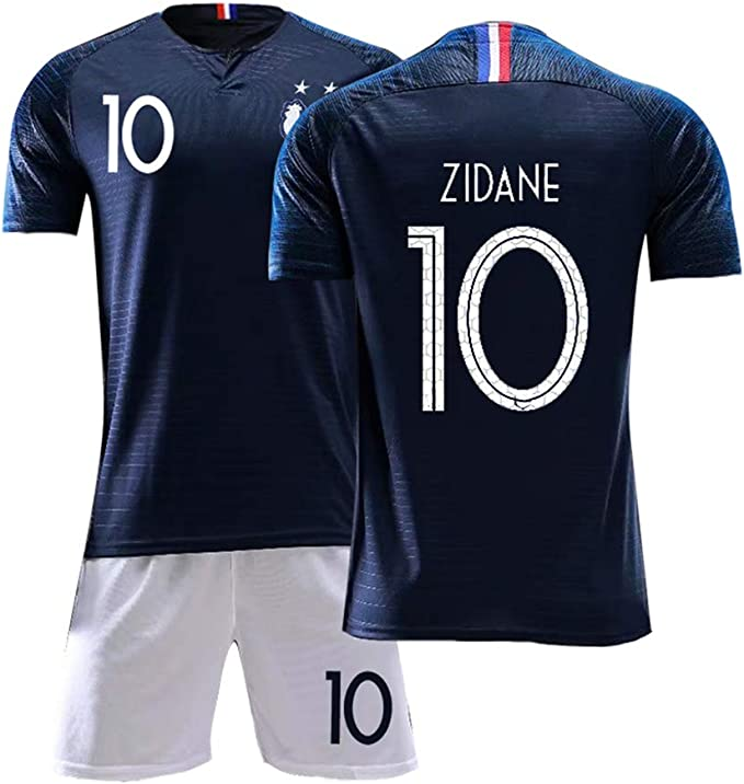 DERTL N.º 10 Zinedine Zidane Real Madrid Fútbol Ropa Deportiva ...