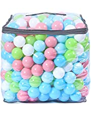 STARBOLO Ball Pit Balls- 400pcs Phthalate Free BPA Free Non-Toxic Crush Proof Play Balls in Reusable and Durable PVC Dustproof Storage Bag. (Multicolor-10 Colors)