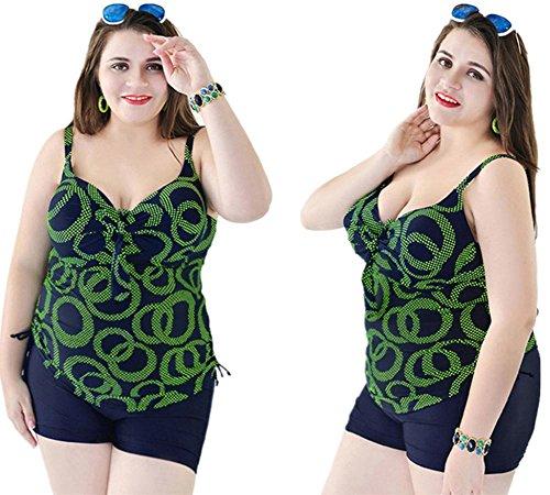 MIAO Mujeres traje de baño de gran tamaño Conservador Moda Beach Fertilizar Aumento Bikini Swimwear 4