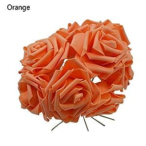 10 Heads 8Cm Pretty Charming Artificial Flowers Pe Foam Rose Flowers Bride Bouquet Home Wedding Decor Scrapbooking orange 39