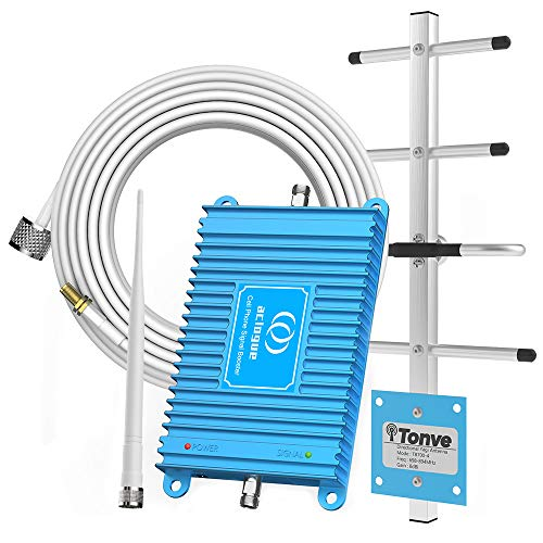 Home Cell Phone Signal Booster for AT&T T-Mobile 4G LTE 700MHz Band 12/17 FDD Mobile Signal Repeater Amplifier Including Outdoor Directional Yagi Antenna and Indoor Omni-Directional Antenna Kits (For Phones T And At Cell)
