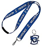 WinCraft Bundle 2 Items: Creighton Bluejays 1 Lanyard with Breakaway Safety Clasp and 1 Premium Key Ring