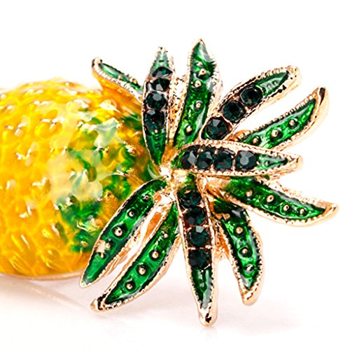 Datuun New Pineapple Brooch Pins Fruit Jewelry Cute for Women Suit Fashion Gift Corsage by Datuun (Image #2)