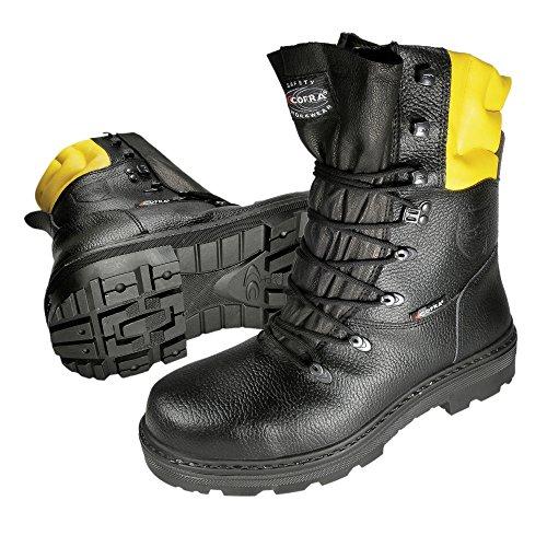 Cofra 40-87890000-47 - Cortar botas resistentes Woodsman 25580-000, Leñadores, botas de seguridad, tamaño 47