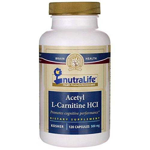 Acetyl L-Carnitine Hcl 500 Milligrams 120 Capsules