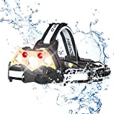 Headlamps, Rechargeable Waterproof Led Headlight with 5 Head Lamps, Brightest 10000 Lumen, 5 Modes Head Flashlights Range up to 500M for Camping, Fishing, Hiking, Outdoors -  Me Sky