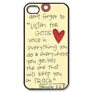 Bible Verse iPhone 4, 4s Case