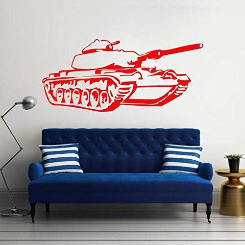 Legertank kinderen slaapkamer art deco muursticker vinyl muurtattoo militaire tank voor woondecoratie muur 120x55cm