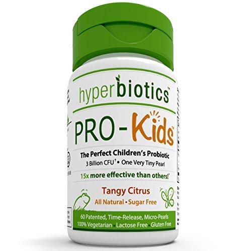 Les probiotiques de Pro-enfants Enfants: 60 minuscule, sans sucre, une fois par jour, Temps Pearls de presse - 15 fois plus efficace que les capsules avec la technologie de livraison brevetée - supplément probiotique Idéal pour les enfants de 4 ans et plu