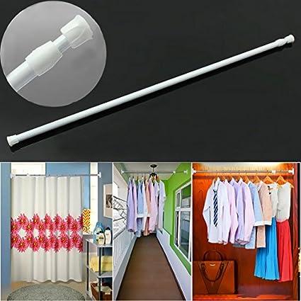 Generic Metal and Plastic Retractable Curtain Hanging Rod (60-110cm, Multicolour)