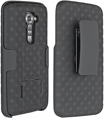 VERIZON BLACK SHELL HOLSTER STAND