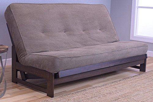 - Colorado Reclaim Mocha Frame and Mattress Set w/ Choice of Fabrics, 7 Inch Innerspring Futon Sofa Bed Full Size Aspen Style (Frame w/ Marmont Mocha)