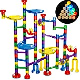 Thinkbox Toys Marble Race Game -LED Marbles Light Up This Marble Run Sets for Kids - STEM Toy or Gift for Boys and Girls - Impact Resistant BPA Free Building Blocks for Fun Friendly Learning and Play