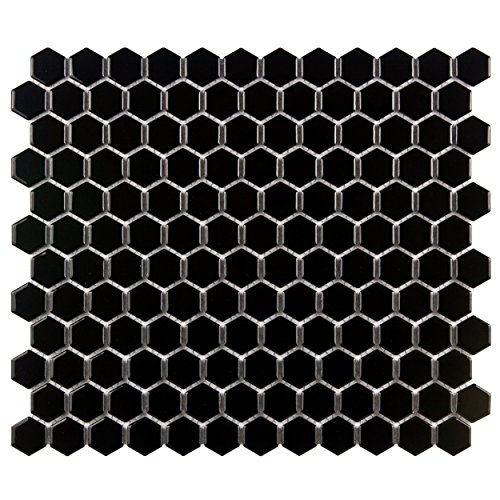 SomerTile FXLMHB Retro Hexagon Porcelain Floor and Wall Tile, 10.25